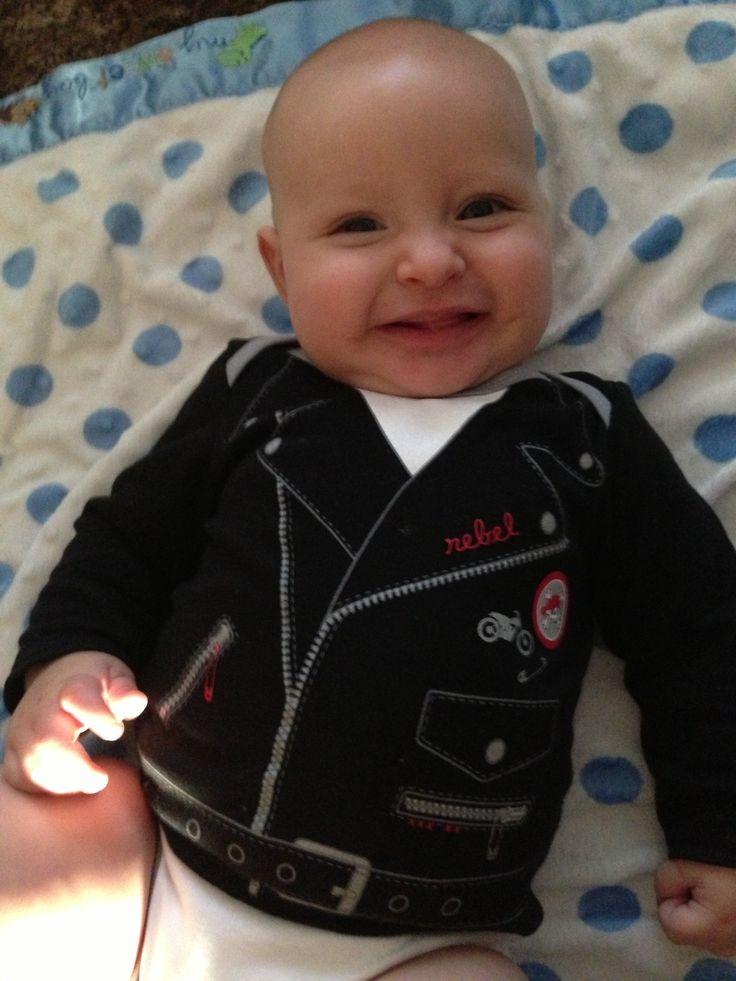 Baby Motorcycle Jacket Onesie Alaric Warren Pinterest