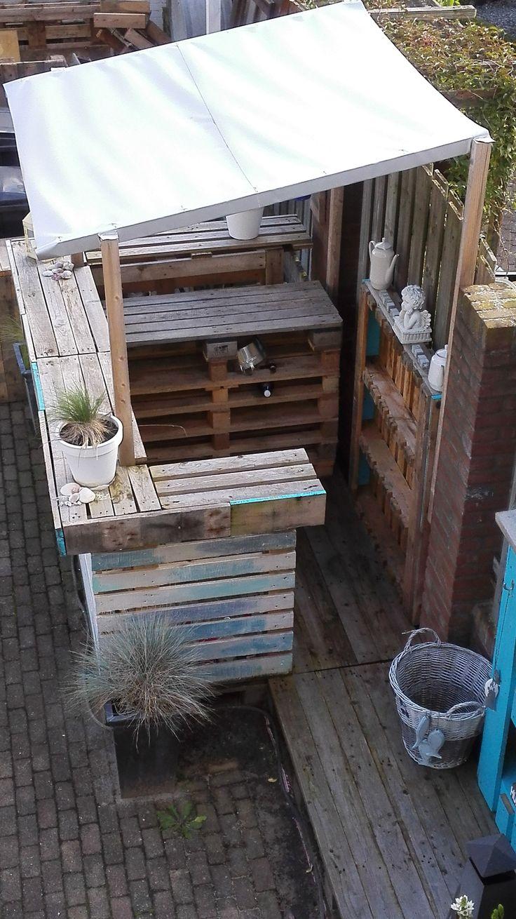 Beachbar From Pallets Made By Mijoqui Diy Outdoor Bar