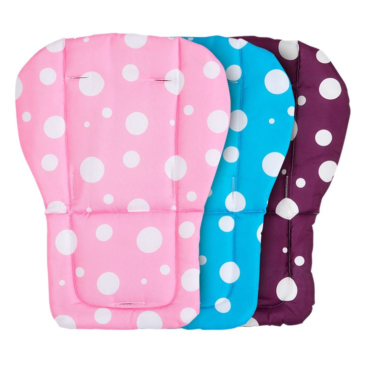 White Dot Baby Car Seat Belt Strap Cover Pad, Stroller Padding Liner, Baby Stroller Seat Pushchair Pram Cushion Cotton Mat