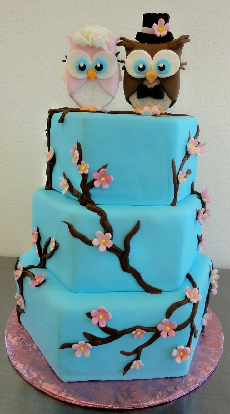 Owl Wedding Cake By Slice Custom Cakes Awesome Owls