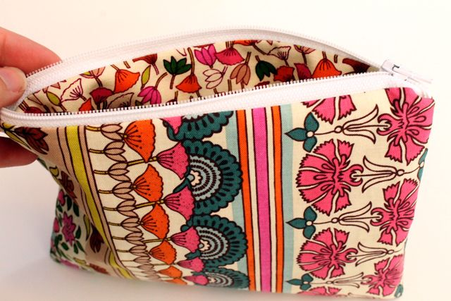 Easy zippered pouch.