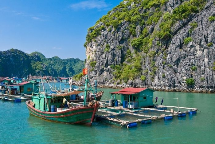 Fish farm, Ha Long Bay, Vietnam