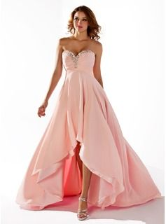 Special Occasion Dresses - $144.99 - Empire Sweetheart Asymmetrical Chiffon Prom Dress With Ruffle Beading Sequins  http://www.dressfirst.com/Empire-Sweetheart-Asymmetrical-Chiffon-Prom-Dress-With-Ruffle-Beading-Sequins-018020806-g20806