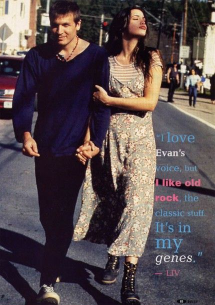 hero & claudio -------------  liv tyler floral 90s style dress