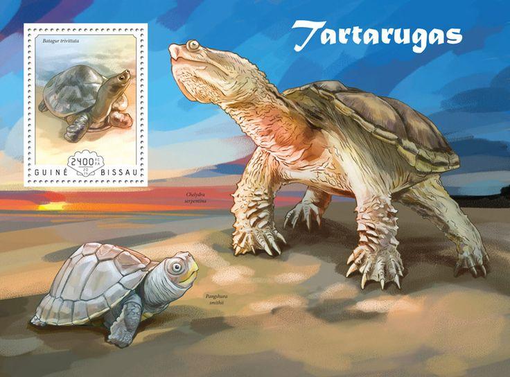 Post stamp Guinea-Bissau GB 14606 bTurtles (Batagur trivittata)