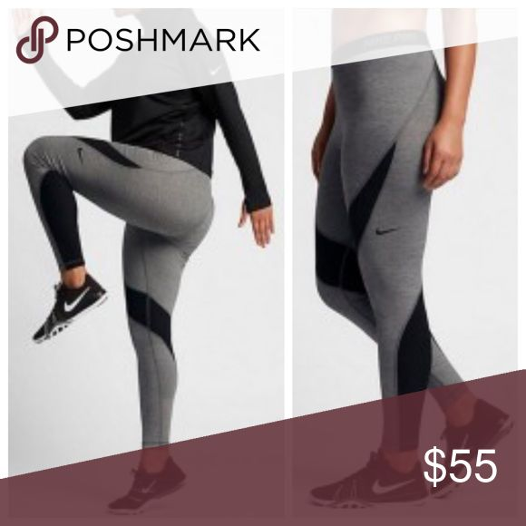 Nike PRO HYPERWARM WOMENS TRAINING TIGHTS Nike PRO HYPERWARM WOMENS TRAINING TIGHTS DARK GREY HEATHER & BLACK.  Polyester, spandex, elastane.  Brand new with tags still attached.  No trades.  Price is firm. Nike Pants
