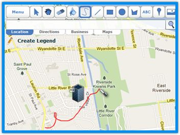 Scribble Maps : un service en ligne pour créer des cartes avec des annotations, mesurer des distances, des aires...