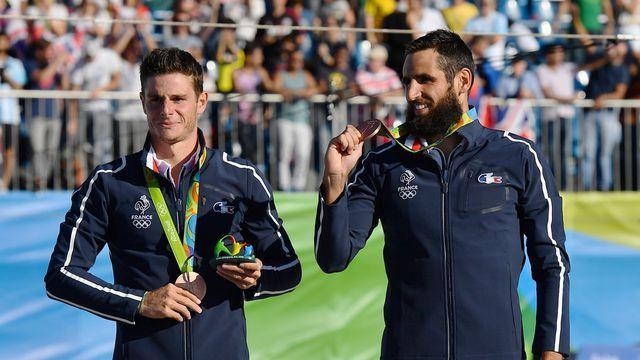 Gauthier Klauss et Matthieu Peche médaille de bronze en slalom en canoé biplace