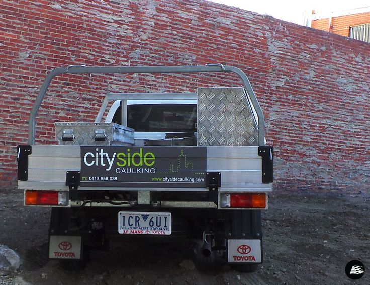 Toyota Hilux, Cityside Caulking, Vehicle Decals, Tradie