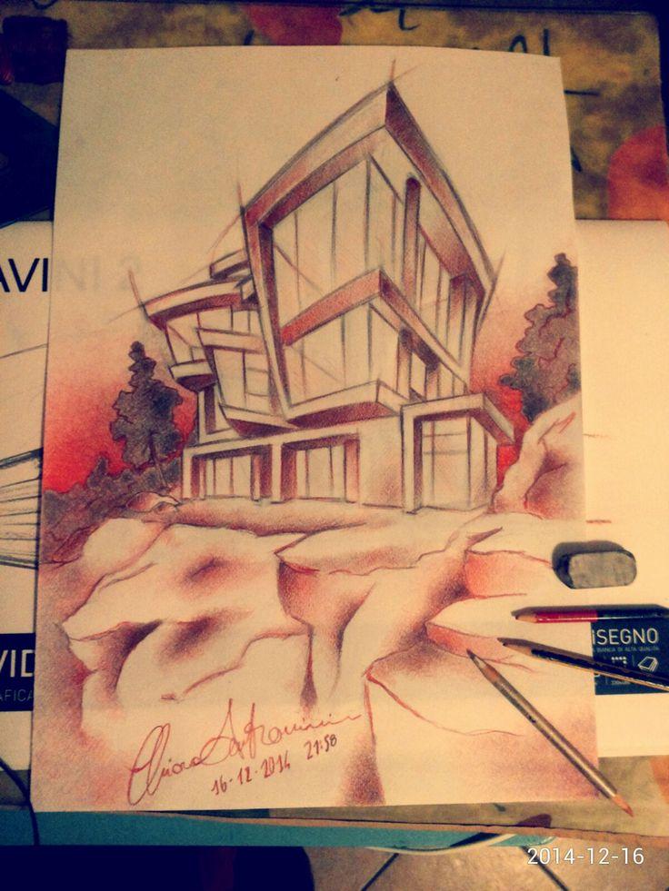 Concept architecture http://www.cs4rt.com/portfolio  #architettura #concept #draw #disegno #disegnoamano
