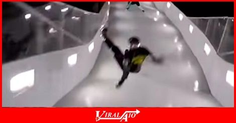 These ice skaters were skating down a long icy ramp …  - #Viral #Trending #Videos #Video #Clips #Picture #Pictures #Pic #Pics #Funny