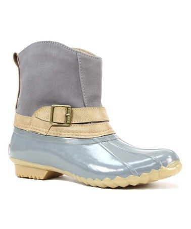 Another great find on #zulily! Gray Canvas Step-In Duck Chooka Boot #zulilyfinds