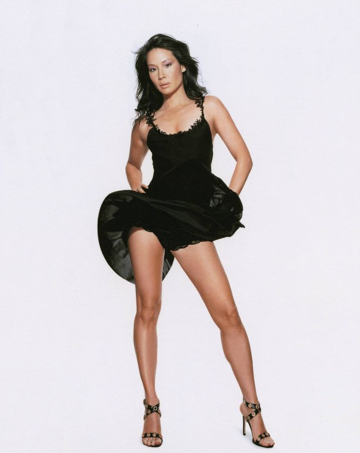 lucy liu has great legs in a little black dress .  See more at http://www.pinterest.com/pinjunkie7971/celebs-in-high-heels/