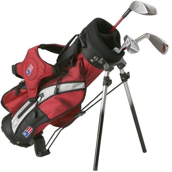 US Kids Golf 3 club Stand Bag Set Red (3 - 5 years) korbyn and Jericho are getting golf sets for Christmas and I can't wait to see there faces when they open it from there nana and papa the kids are gonna be happy and styling at the golf course ⛳️