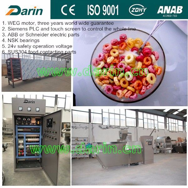 Darin Machinery grain cereal puff snacks food corn flex chips flakes manufacturing machines process line production plant