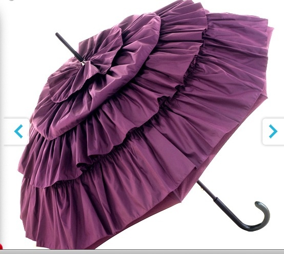 This is gorgeous... about time umbrella makers were a little more creative!  Too bad I don't live in rain country anymore...