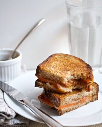 Roasted Sweet Potato & Fig Grilled Cheese with Balsamic Reduction Recipe on Yummly