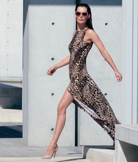 Joseph Ribkoff maxi jurk met luipaard print 153686 AS F