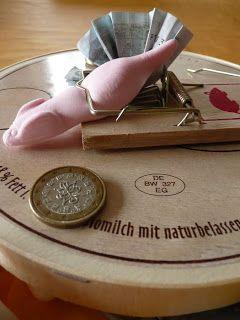 Luxury inklusive Warnung vor zuviel Gier die Mausefalle als Geldgeschenk
