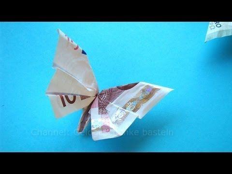Geldgeschenk Geburtstag: KLEEBLATT aus Euro Geldschein falten - YouTube