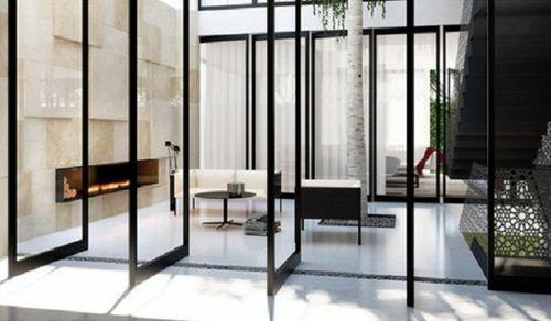 .Diy Ideas, Indoor Outdoor Atrium, Pretty Diy, Diy Inspiration, Doors Windows, Indooroutdoor Atrium, Glasses Doors, Diy Decor, Pivot Doors