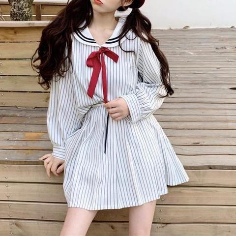 Striped School Uniform SD00942