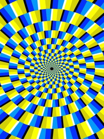 OPTICAL ILLUSION! (if you look at it in periferal vision ,it looks like it's spinning!)