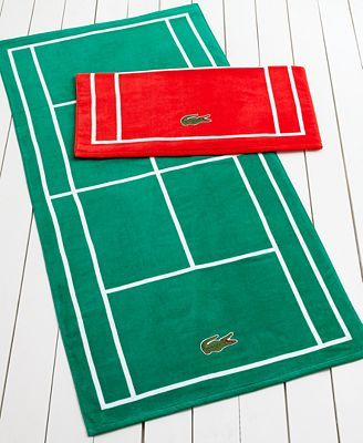 Lacoste Court Beach Towel - Perfect for using after a tennis match!