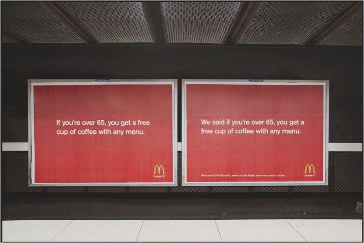 McDonalds se dirigue a los mayores, original.