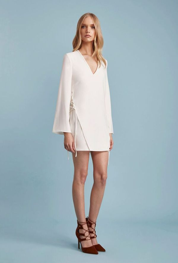 Finders Keepers - Fly Away Dress - White