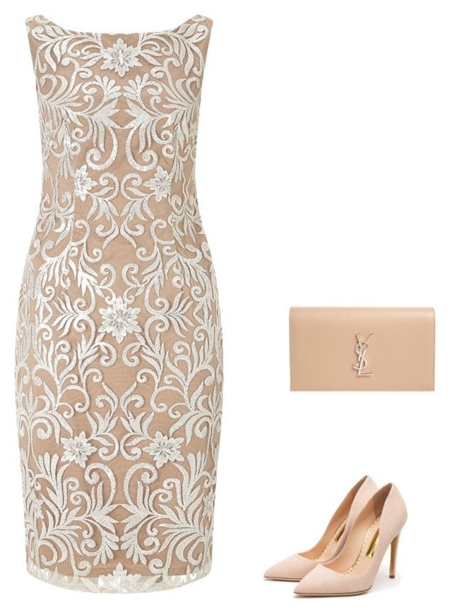 """""""Untitled #3"""" by lhh-ph on Polyvore featuring Adrianna Papell, Yves Saint Laurent and Rupert Sanderson"""