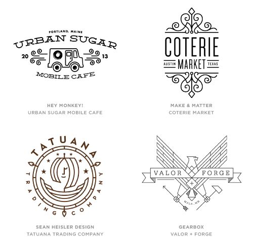 Mono Crest trend | 2014 logo rends on LogoLounge.com