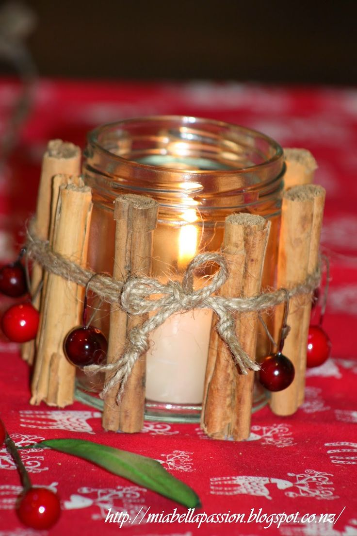 Mia Bella Passions Cinnamon stick and berry jar candle
