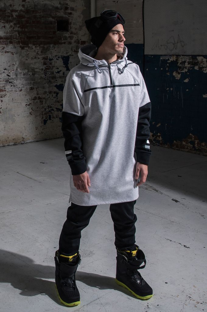 MOO LAB THE RUGBY UNISEX TALL HOODIE - WHITE MARLE & BLACK. The Rugby Tall Hoodie is part of our Fashion Series. Featuring the following: - 5K DWR Coated Bonded Fleece to keep you warm & dry. - Inner sleeve cuff with thumbholes to keep your gloves in place. - Open uneven hem with side splits for freedom of movement. - Printed Rugby stripes. - 1/2 Zip front for versatility. - Higher neck at front for extra coverage. - 3 Piece hood to fit over helmet.