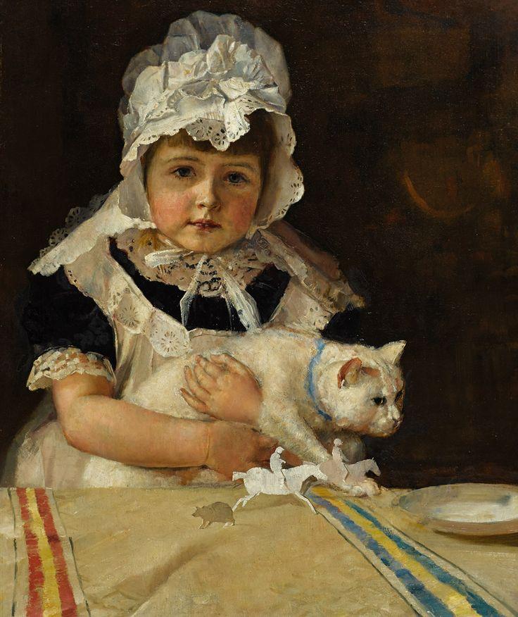 "Tom Roberts (Australian, 1856-1931) - ""Miss Minna Simpson"", 1886 - Oil on canvas"