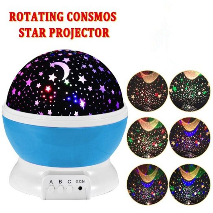 Room Novelty Night Light Projector Lamp Rotary Flashing Starry Star Moon Sky Star Projector Kids Children Baby Abajur Infantil  Price: 11.20 USD