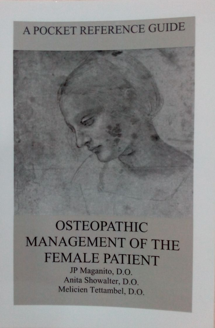 MAGANITO JP, SHOWALTER A, TETTAMBEL M.A POCKET REFERENCE GUIDE: OSTEOPATHIC MANAGEMENT OF THE FEMALE PATIENT. [S.L.]: [S.N.]; 2009. http://momicoh.pastperfect-online.com/32879cgi/mweb.exe?request=record&id=44FBDA98-1F35-423C-8BCD-893944119224&type=201
