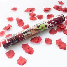Konfettikanone Rosenblätter rot