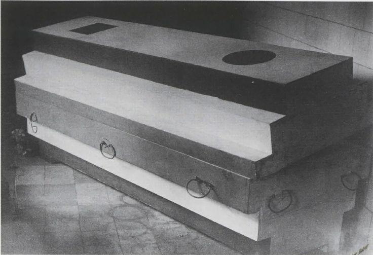 Suprematistic coffin of Kazimir Malevich.