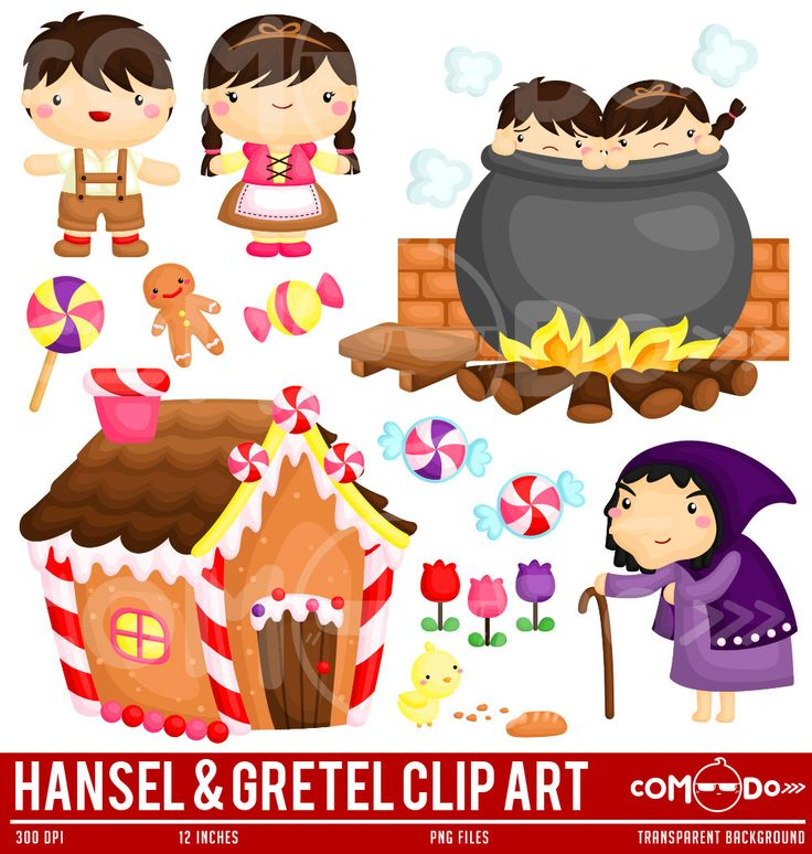 Hansel and Gretel Clipart / Digital Clip Art for Commercial and Personal Use / INSTANT DOWNLOAD by comodo777 on Etsy