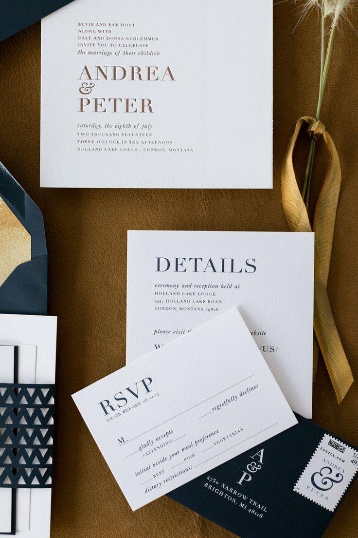 wedding invitation wording vegetarian option%0A Modern Letterpress Inviation Suite