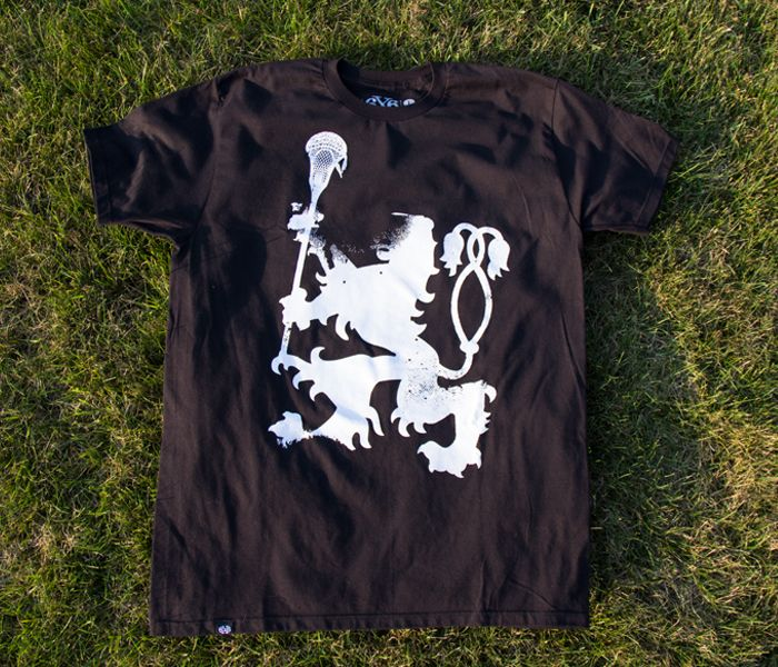 6x6 Lacrosse Rampant lacrosse shirt