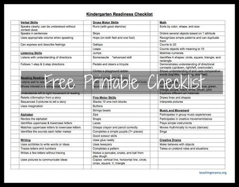 201537fdea2aaa8d14bbe6f9dc1919c7  preschool checklist homeschool kindergarten - Kindergarten Readiness Test