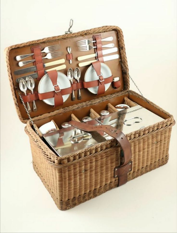 Wooden Picnic Basket Set : Best picnic set ideas on baskets