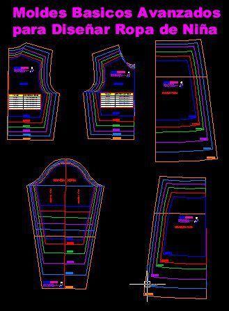 moldes basicos de diseño de ropa de niña