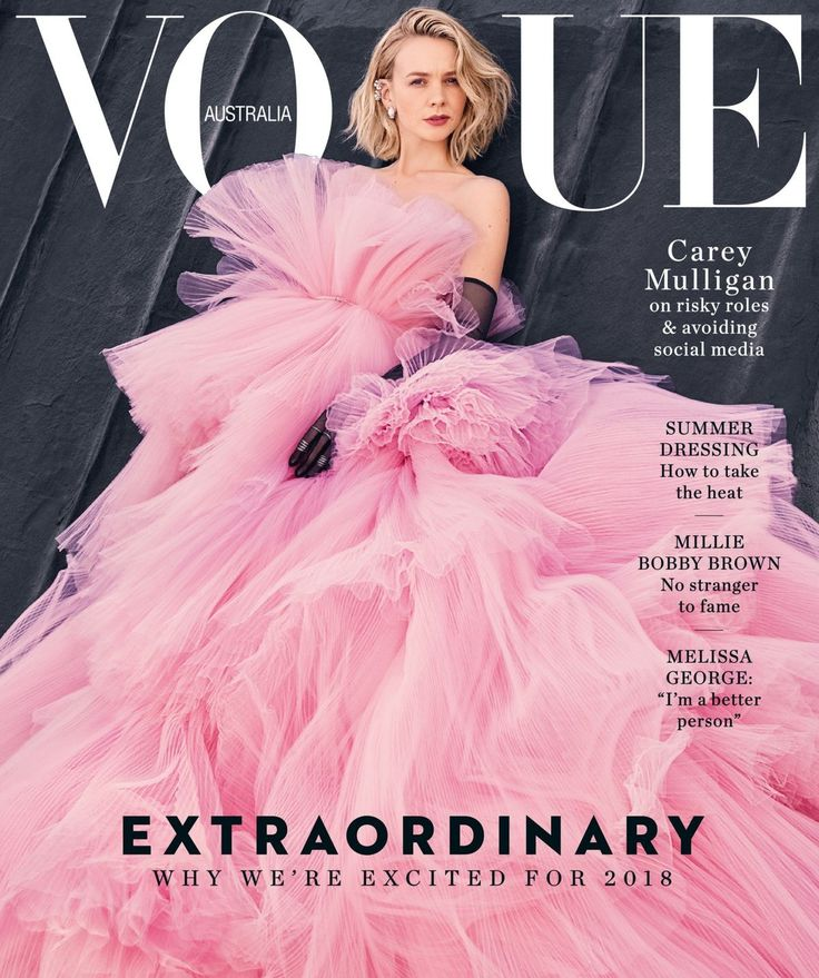 Carey Mulligan for Vogue Australia January 2018 Cover