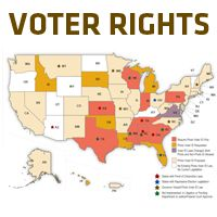 Afl Cio Voter Rights Map Many States Have Passed Laws Restricting Or Changing Requirements For Voting