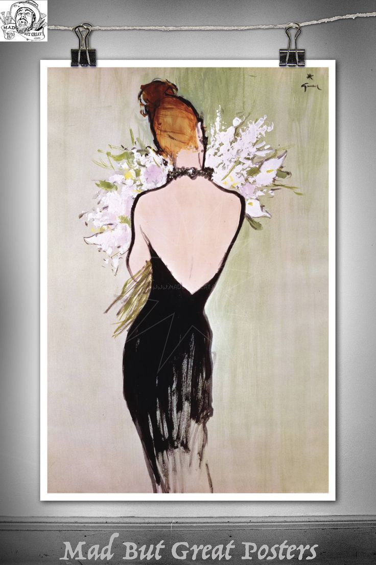 René Gruau - Miss Dior, poster, vintage, wall art, home decor, gift, fashion print, french antiques, vogue, art deco, fine art, illustration by MadButGreatPosters on Etsy