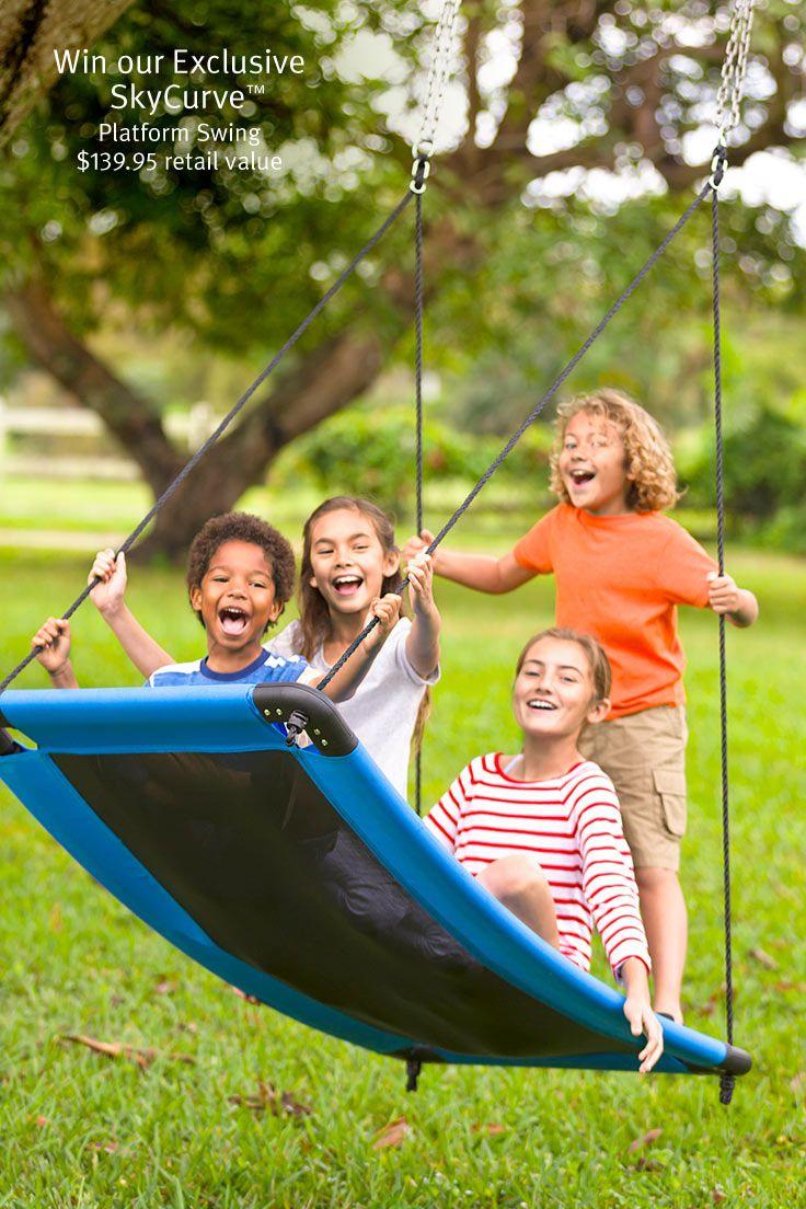 Dangerous playground swinging platform