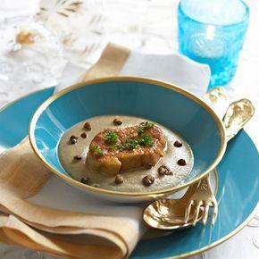 Découvrez la recette du foie gras poêlé aux lentilles